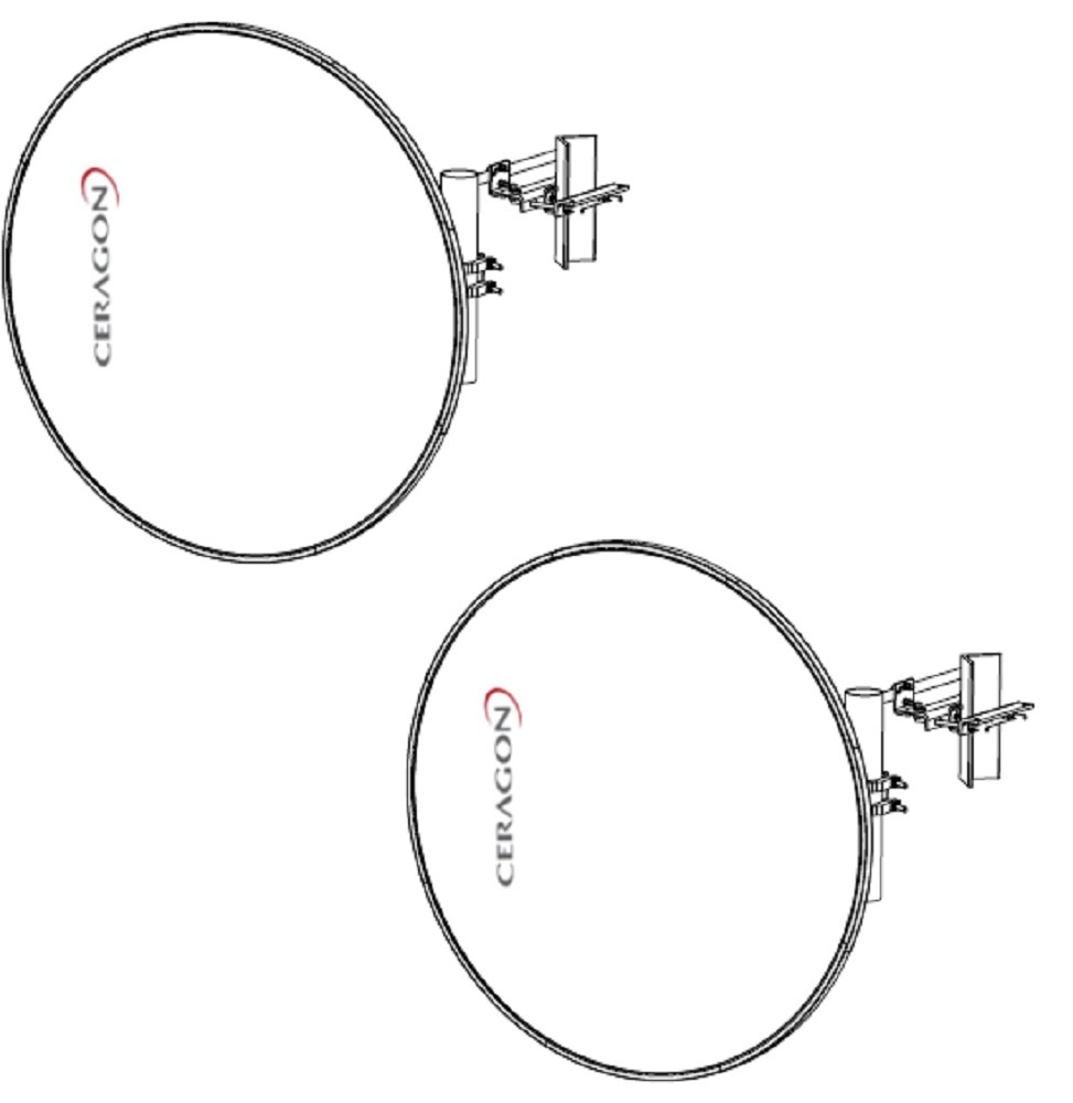 Bundle Pair - Ceragon Antennas - 18GHz 1200mm